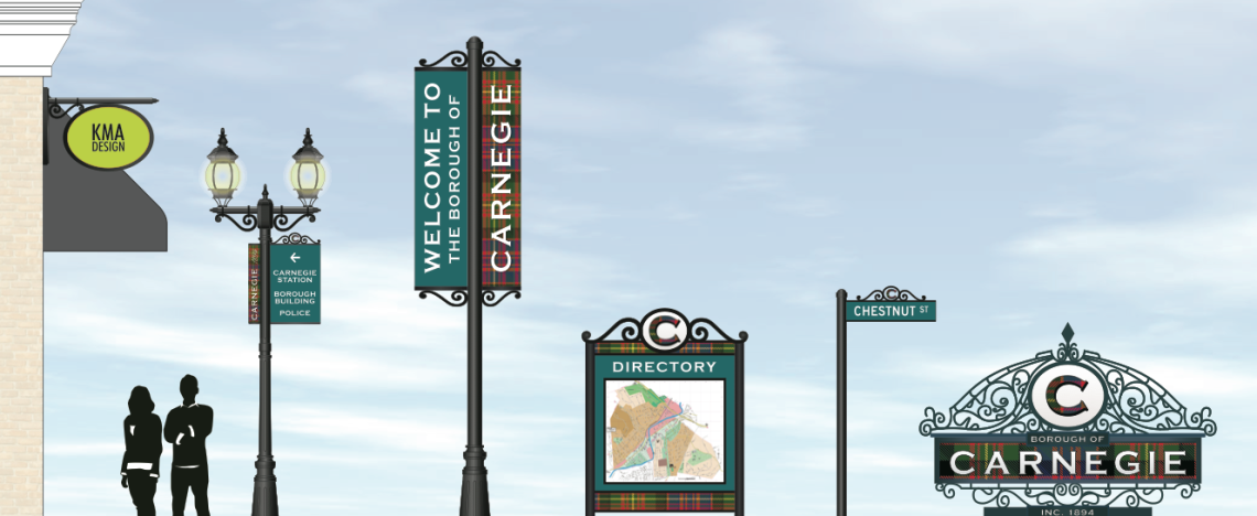 Borough of Carnegie Sign Package