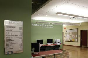 Seton Hill University Joanne Woodyard Boyle Health Science Center Donor Plaque and Directionals